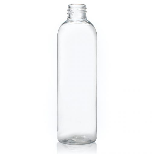 4 oz PET Clear Cosmo Round Bottle with 20-410 Neck Finish