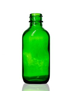 2 oz Boston Round Green Glass Bottle with 20-400 Neck Finish