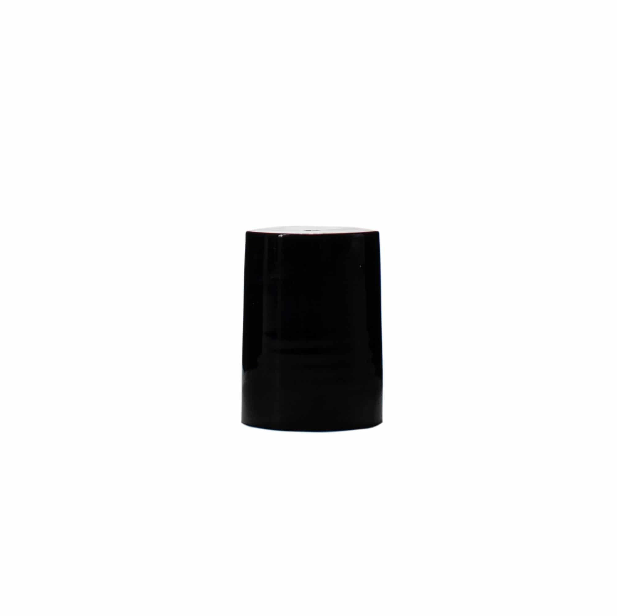 Black 16-415 PP Smooth Skirt Screw Cap