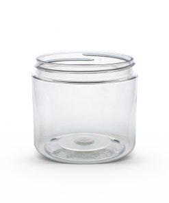 16 oz Clear PET Straight Sided Jar 89-410 Neck Finish