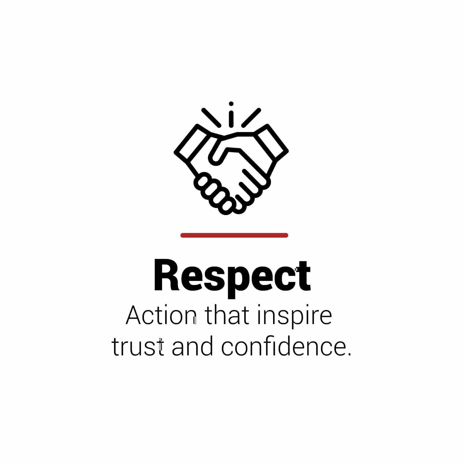 Respect Action that inspire and confidence at FH Packaging by www.fhpkg.com
