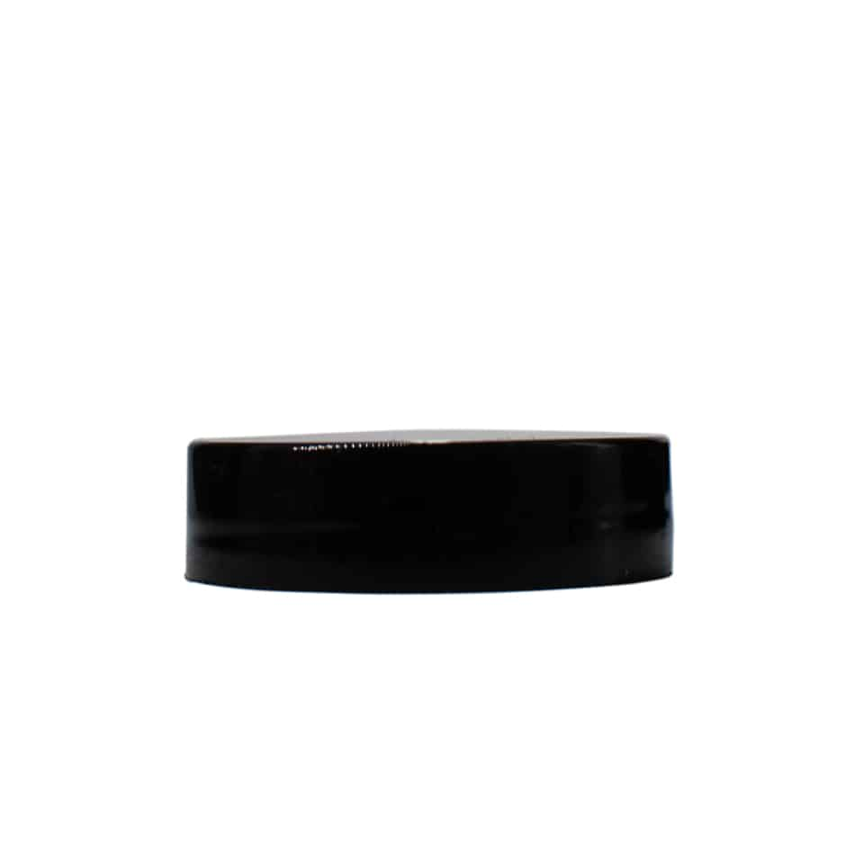 Black 38-400 PP Smooth Skirt Lid with Foam Liner