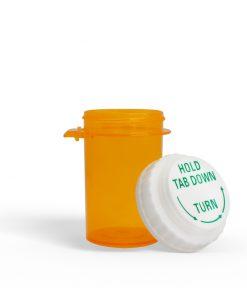 13 Dram Amber Prescription Bottle