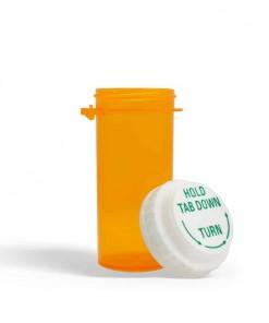 20 Dram Amber Prescription Bottle