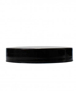 Black 58-400 PP Smooth Skirt Lid with (PS) Pressure Sensitive Liner Heat Induction Seal