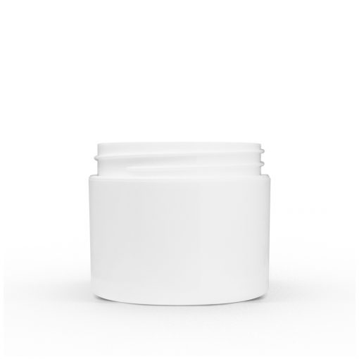 2 oz White Polypropylene Double Wall Straight Sided Jar