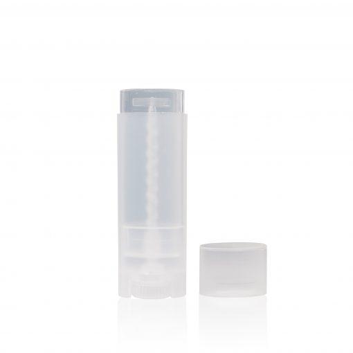 0.15 oz Clear Oval Lip Balm Tube
