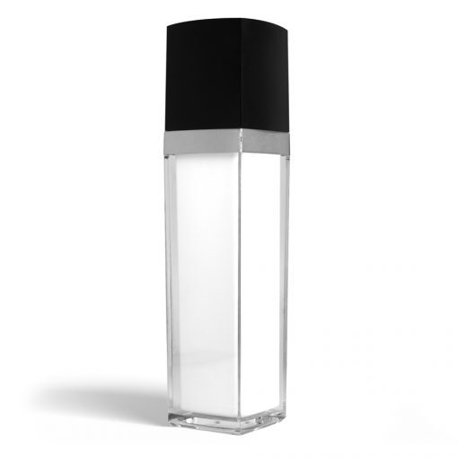 140 ml Square Acrylic Treatment Pump Bottle with Black Cap