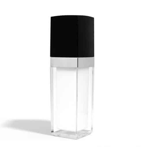 30 ml Square Acrylic Treatment Pump Bottle with Black Cap