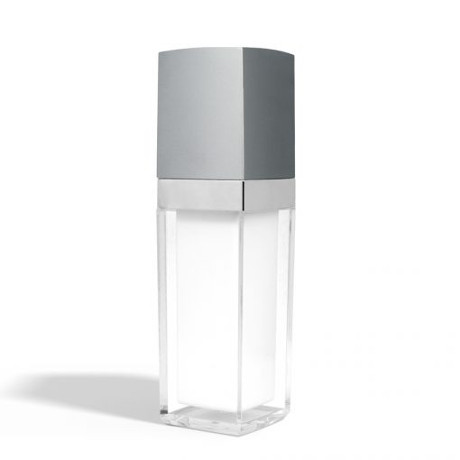 30 ml Square Acrylic Treatment Pump Bottle with Silver Cap