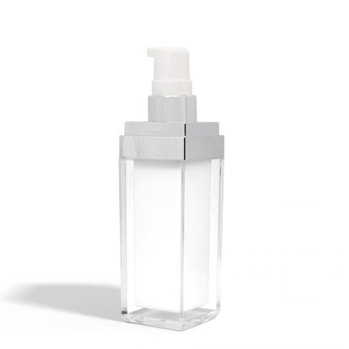 30 ml Square Acrylic Treatment Pump Bottle with No Cap