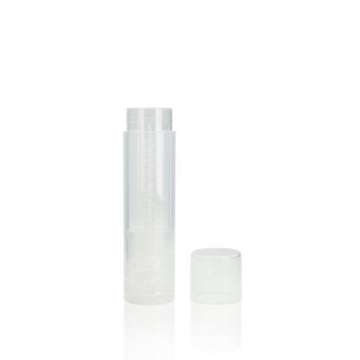 0.15 oz Clear Lip Balm Tube with Clear Cap