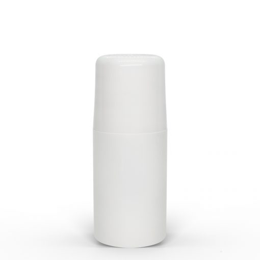 2 oz White Roll-On Deodorant Bottle with Round Edge Cap by FH Packaging for FHPKG