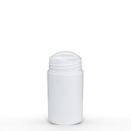 30g White Twist Up Deodorant Tube with White Screw Cap and Disc Personal Care Container FH Packaging