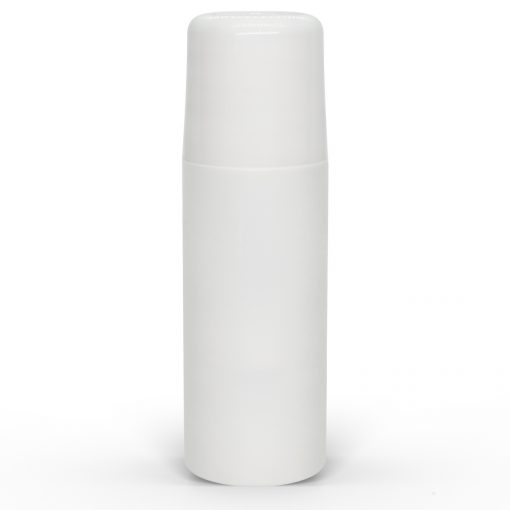 3 oz White Roll-On Deodorant Bottle with Round Edge Cap by FH Packaging for FHPKG
