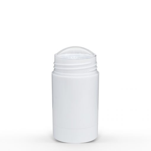 50g White Twist Up Deodorant Tube with White Screw Cap and Disc Personal Packaging Container Bulk Wholesale FH Packaging
