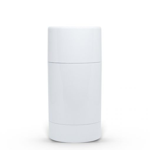 75g White Twist Up Deodorant Tube with White Screw Cap and Disc Personal Packaging Containers FH Packaging Bulk Wholesale Packaging