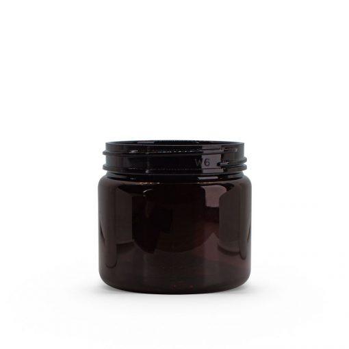 2 oz Dark Amber PET Straight Sided Jar 48-400 Neck Finish