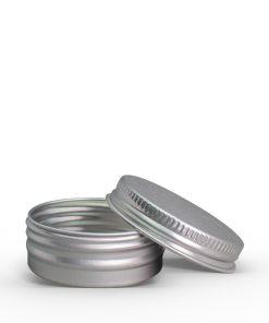 15g Aluminum Tin Jar with Screw On Lid