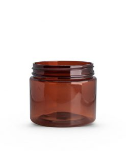2 oz Amber PET Straight Sided Jar 48-400 Neck Finish