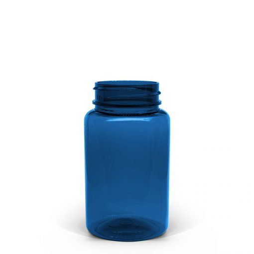 100cc Blue PET Packer Bottle 38-400 Neck