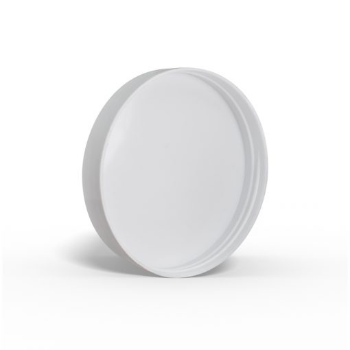 89-400 White Smooth Skirt Lid with (PS) Pressure Sensitive Liner GB26-089-400-white-(smooth-skirt)(PS)(580)-LID FH Packaging FHPKG