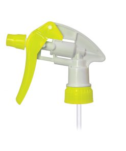 28-400 Yellow Chemical Trigger Sprayer with 9-inch Dip Tube and Adjustable Nozzle