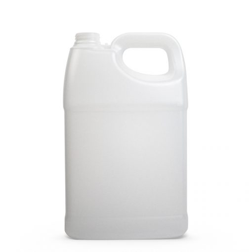 (1 Gallon) 128 oz F-Style Clear HDPE Plastic Jug with 38mm 38-400 Neck