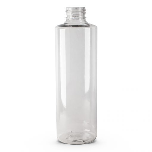 8 oz PET Clear Cylinder Bottle with 24-410 Neck Finish