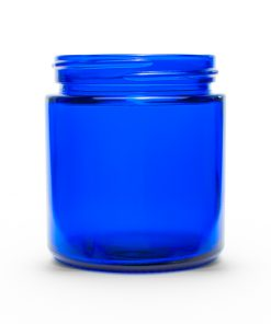 4 oz 58-400 Cobalt Blue Straight Sided Round Glass Jar