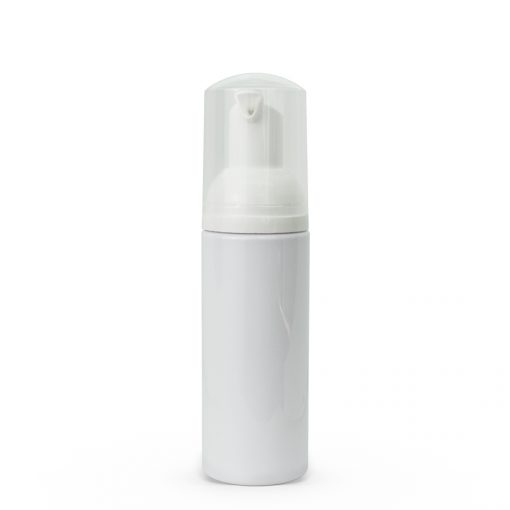 50 ml White PET Cylinder Foamer Bottle & Pump Set