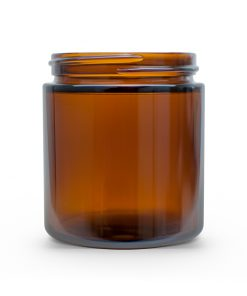 4 oz 58-400 Amber Straight Sided Round Glass Jar