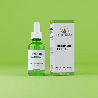 Glass Bottles and Droppers with your business CDB Hemp Oil Extract