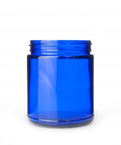 9 oz 70-400 Cobalt Blue Straight Sided Round Glass Jar