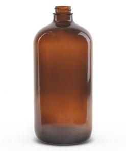 32 oz Boston Round Glass Bottle with 28-400 Neck Finish
