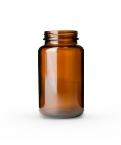 300cc Amber Glass Packer Bottle 53-400 Neck
