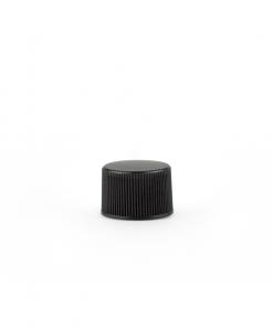 20-400 Black Plastic Screw Top Cap with Liner