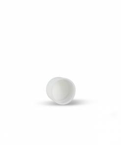 20-400 White Plastic Screw Top Cap with Polyethylene Foam Liner