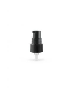 Black 20-410 Smooth Skirt Dispensing Treatment Pump with Clear Cap and 100mm Dip Tube-No-Cap