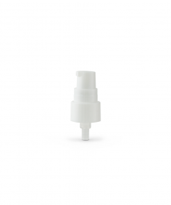 White 20-410 Smooth Skirt Dispensing Treatment Pump with Clear Cap and 100mm Dip Tube No Cap