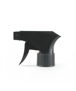 28-410 Black Plastic Ribbed Skirt Trigger Sprayer with On/Off Nozzle and 9-inch Dip Tube