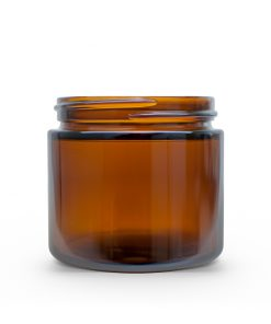 2 oz 53-400 Amber Glass Straight-Sided Round Jar FH Packaging by FHPKG