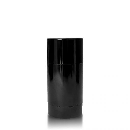 75g Black Twist Up Deodorant Tube with Matte Black Screw Cap and Disc