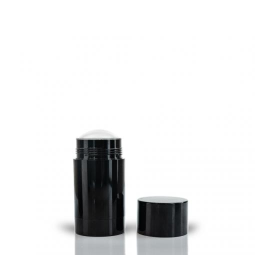 75g Black Twist Up Deodorant Tube with Black Screw Cap and Disc