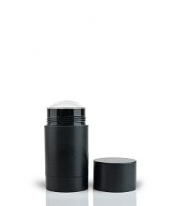 75g Matte Black Twist Up Deodorant Tube with Black Screw Cap and Disc