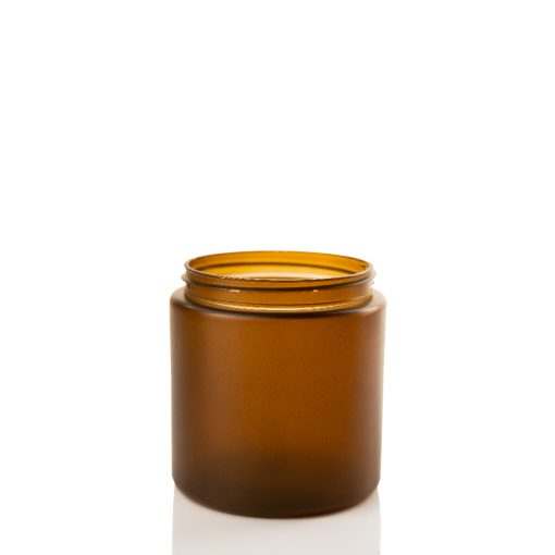 10 oz Frosted Amber PET Straight Sided Jar 70-400 Neck Finish