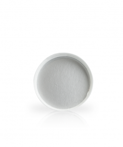 White 89-400 Ribbed Skirt Lid with (HIS) Heat Seal Liner