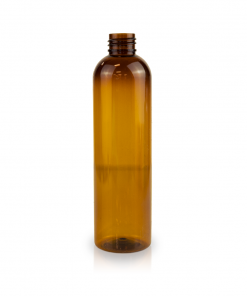 8 oz PET Amber Cosmo Bottle FH Packaging