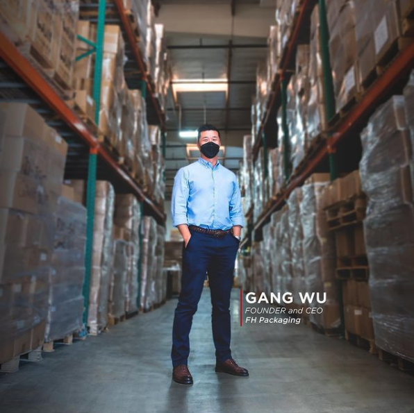 CEO Gang Wu at FH Packaging Wholesale Bulk Container & Packaging Company