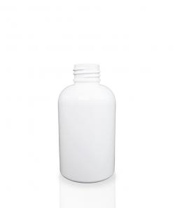 4 oz White PET Plastic Boston Round Bottle
